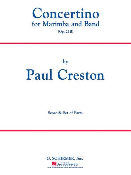 Concertino for Marimba and Band, Op. 21b