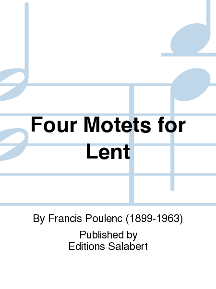 Four Motets for Lent