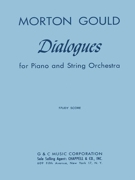Dialogues For Piano And String Orchestra Study Score