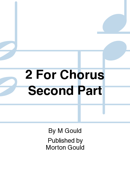 2 For Chorus Second Part