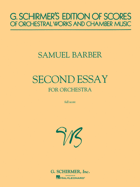 second essay for orchestra sheet music by samuel barber sheet  second essay for orchestra