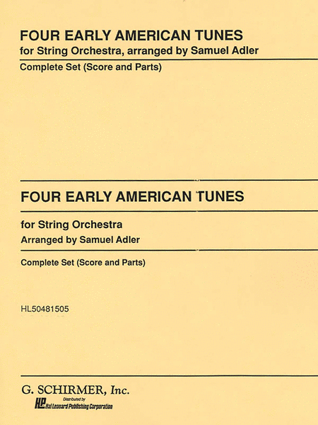 Four Early American Tunes Set String Orchestra Sc & Pts