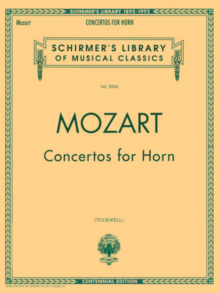 Concertos For Horn - French Horn/Piano