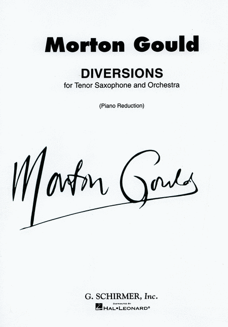 Diversions for Tenor Saxophone and Piano