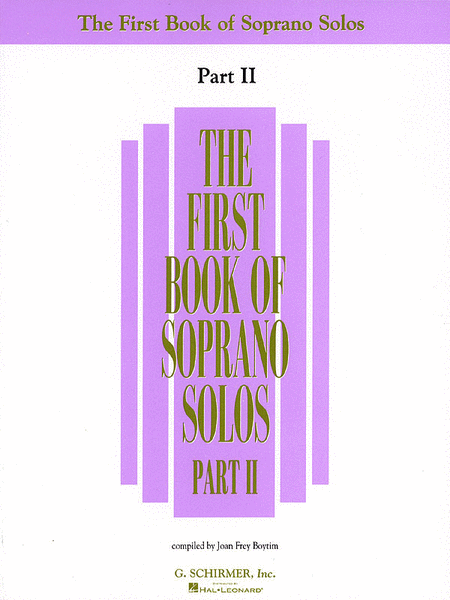 The First Book of Soprano Solos - Part II (Book Only)