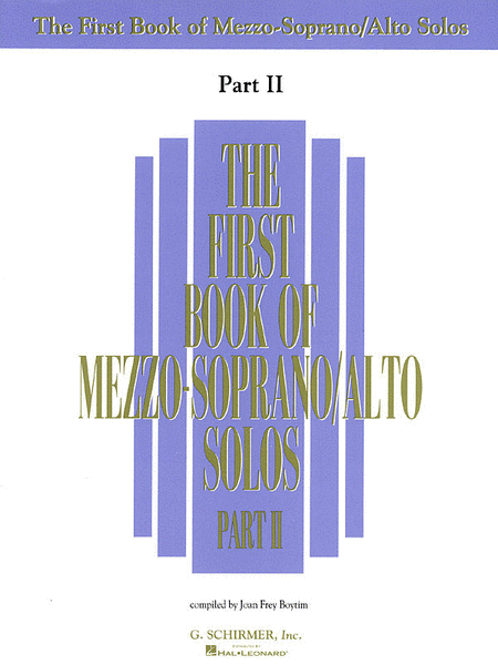 The First Book of Mezzo-Soprano/Alto Solos - Part II (Book Only)