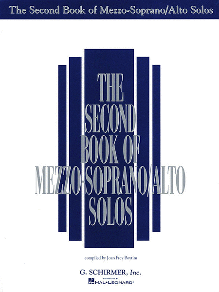 The Second Book of Mezzo-Soprano/Alto Solos (Book Only)
