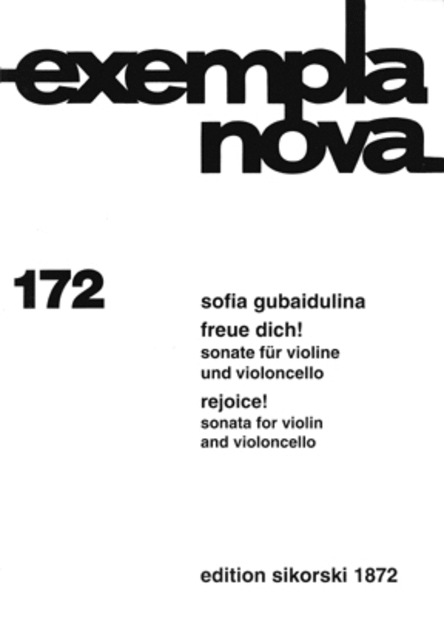 Freue Dich Sonata For Violin & Cello