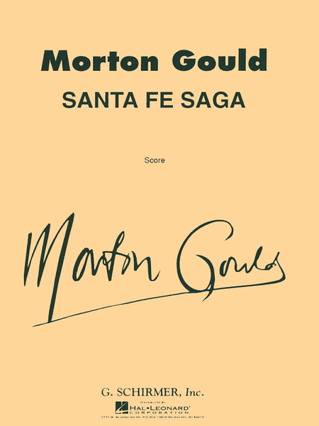 Santa Fe Saga For Concert Band Full Score