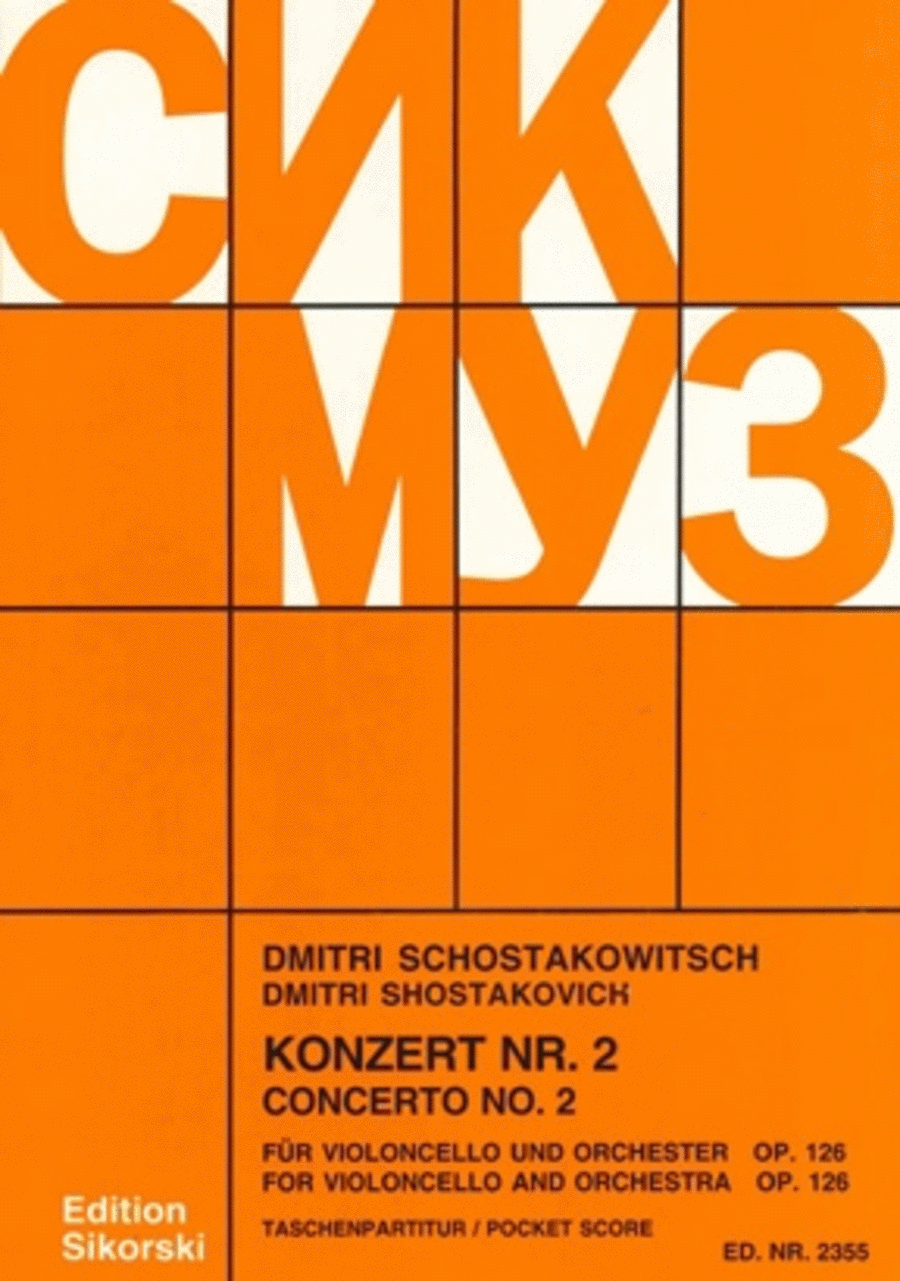 Concerto No. 2 for Cello and Orchestra, Op. 126