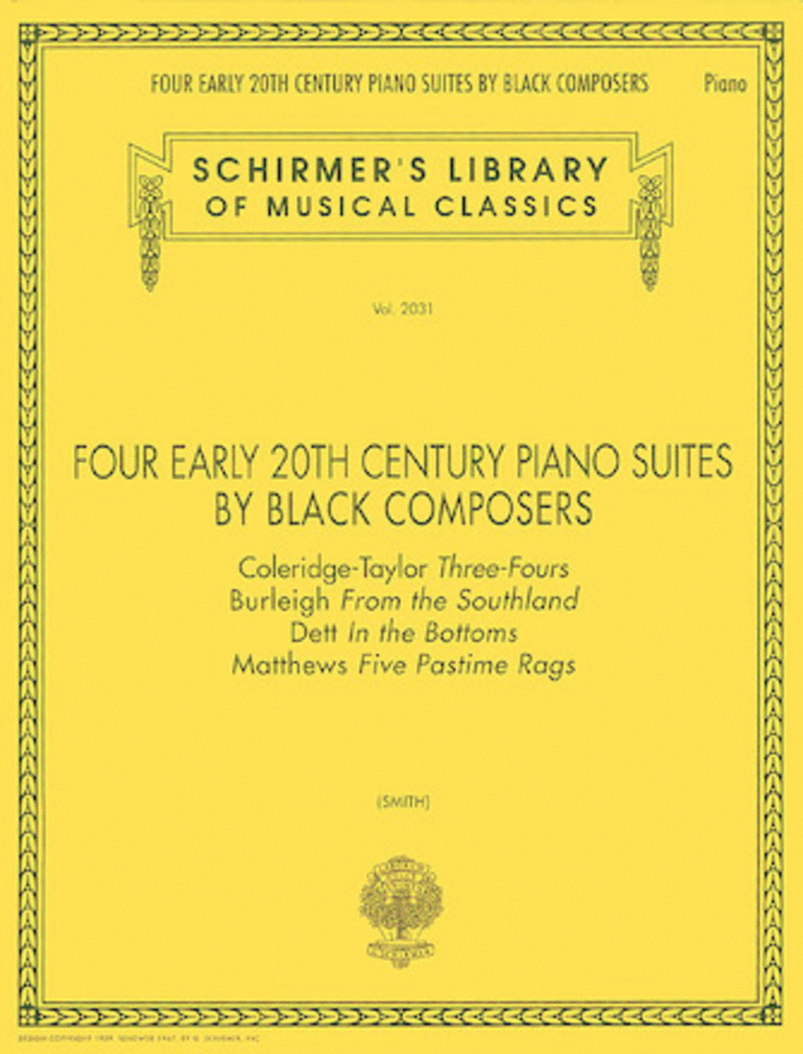 Four Early 20th Century Piano Suites by Black Composers