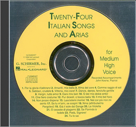 Twenty-Four Italian Songs and Arias - Medium High (CD)