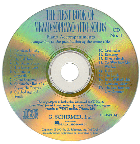 The First Book of Mezzo-Soprano/Alto Solos (Accompaniment CDs)