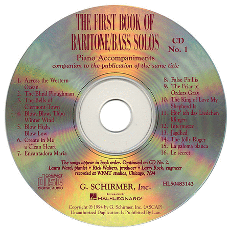 The First Book of Baritone/Bass Solos (Accompaniment CDs)