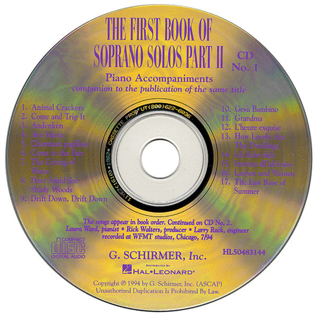 The First Book of Soprano Solos - Part II (Accompaniment CDs)
