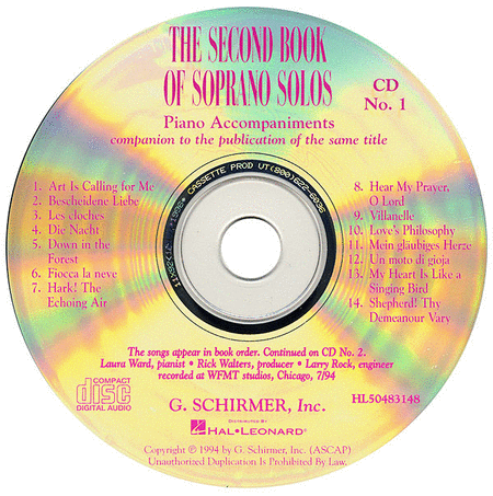 The Second Book of Soprano Solos (Accompaniment CDs)
