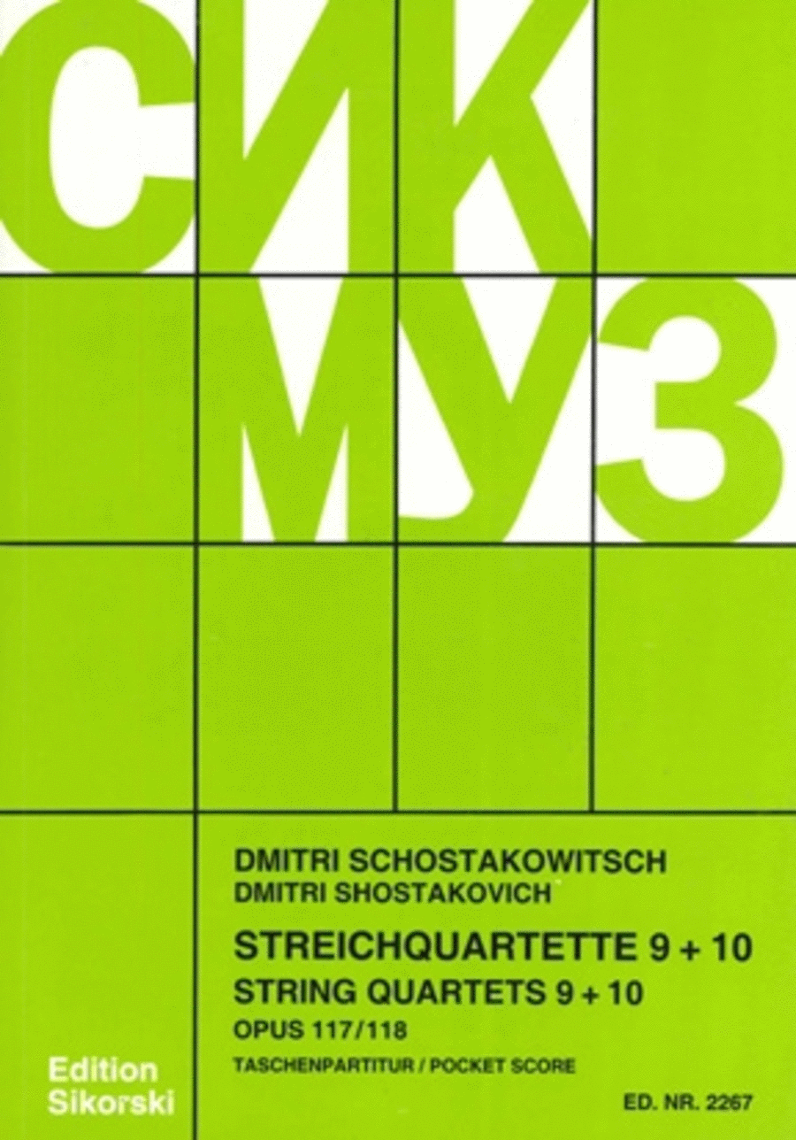 String Quartets, Nos. 9-10