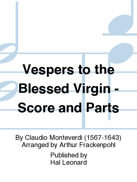 Vespers to the Blessed Virgin - Score and Parts