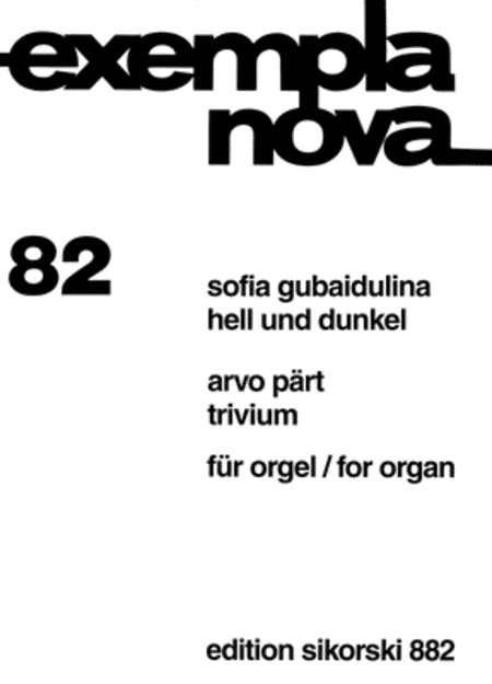 hell und dunkel trivium sheet music by sofia gubaidulina sheet music plus. Black Bedroom Furniture Sets. Home Design Ideas