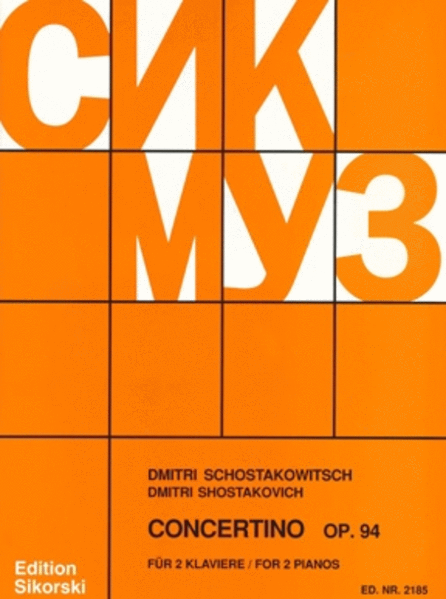 Concertino for 2 Pianos, Op. 94