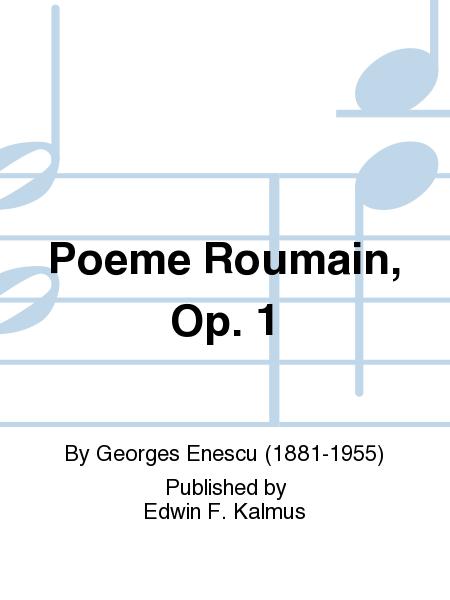 Poeme Roumain, Op. 1