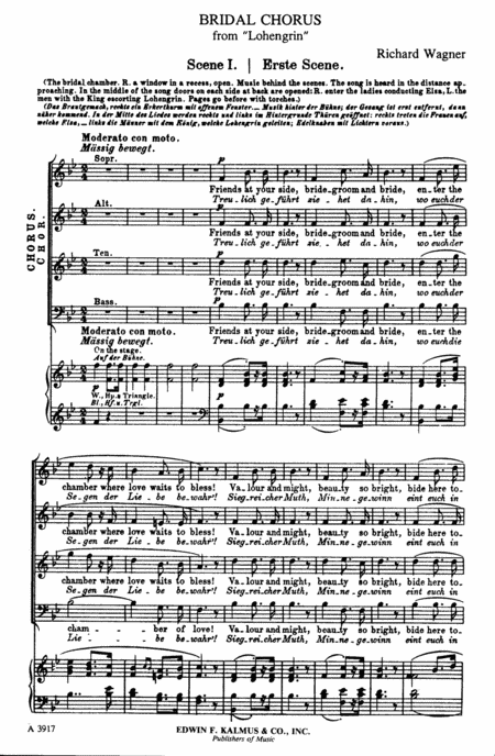 Lohengrin: Act III; Sc. 1, Bridal Chorus: Treulich gefuhrt