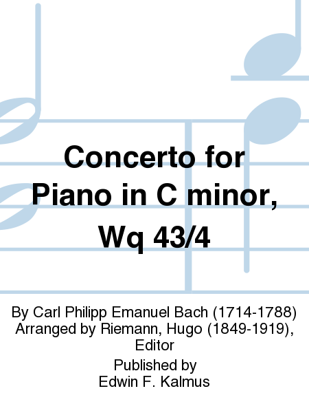 Concerto for Piano in C minor, Wq 43/4
