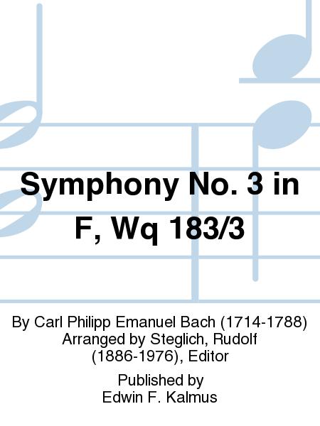 Symphony No. 3 in F, Wq 183/3