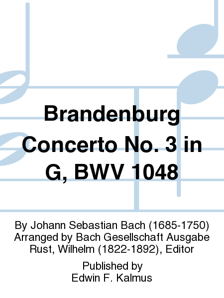 Brandenburg Concerto No. 3 in G, BWV 1048