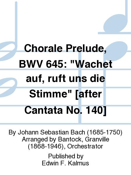 Chorale Prelude, BWV 645: