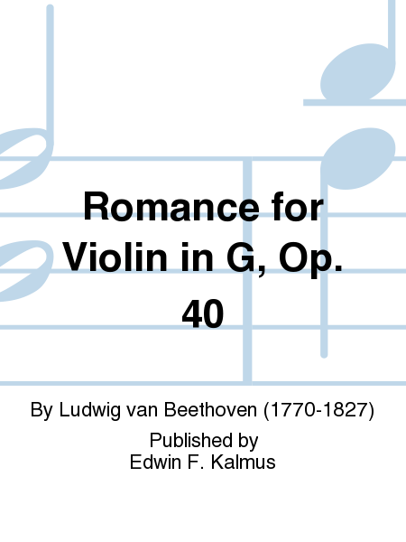Romance for Violin in G, Op. 40