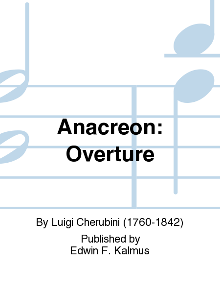 Anacreon: Overture