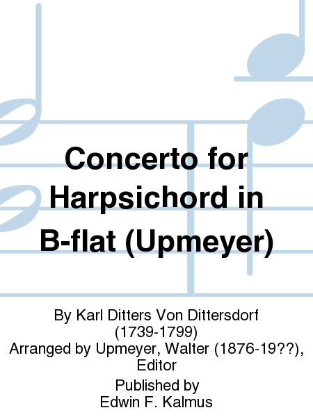 Concerto for Harpsichord in B-flat (Upmeyer)