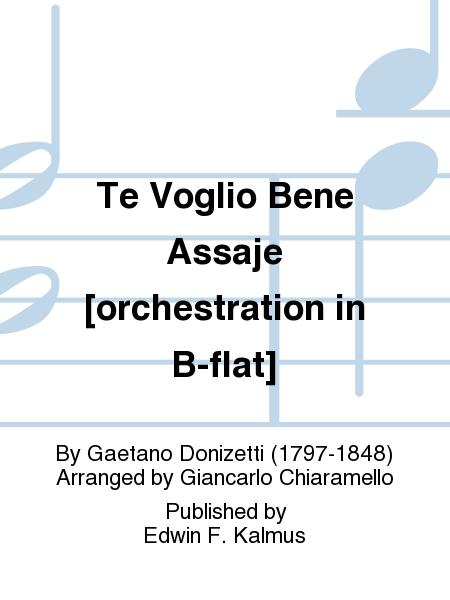 Te Voglio Bene Assaje [orchestration in B-flat]