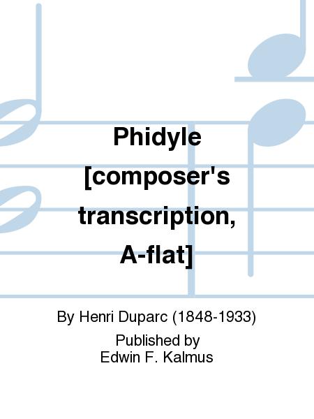 Phidyle [composer's transcription, A-flat]