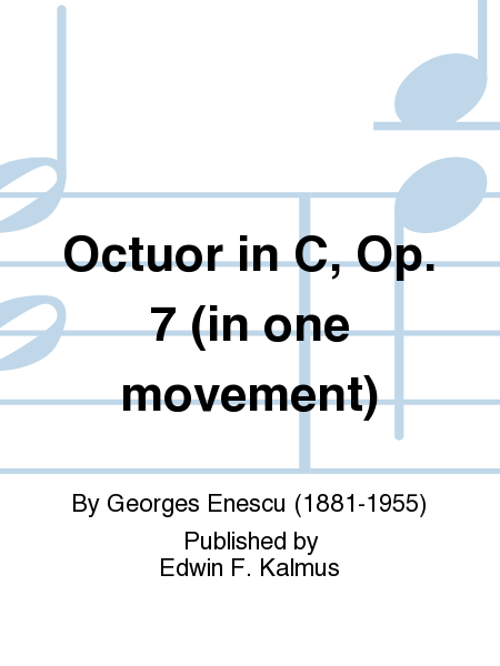 Octuor in C, Op. 7 (in one movement)