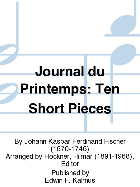 Journal du Printemps: Ten Short Pieces