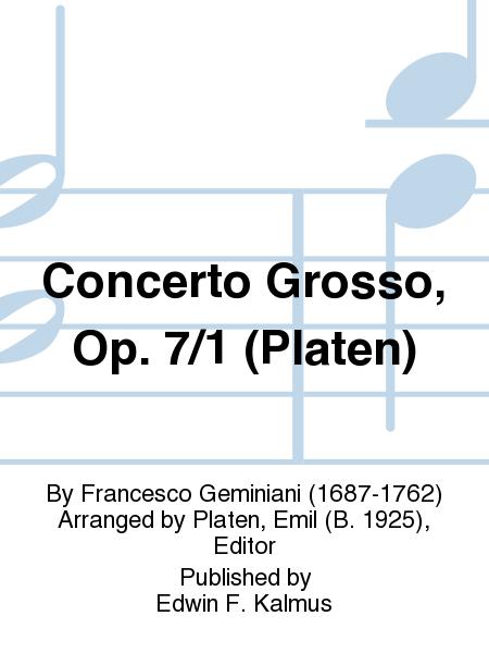 Concerto Grosso, Op. 7/1 (Platen)