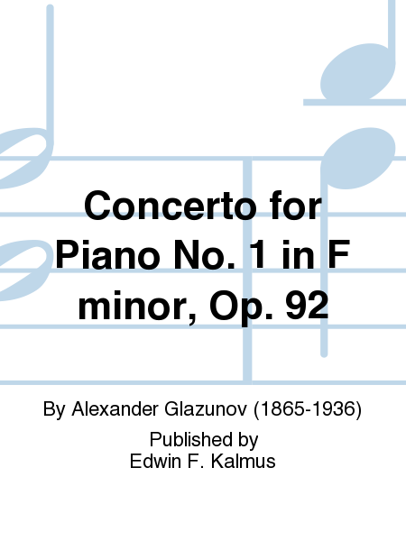Concerto for Piano No. 1 in F minor, Op. 92