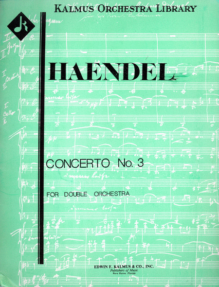 Concerto a Due Cori No. 3 in F, HWV 334