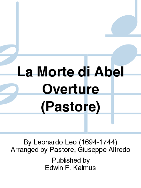 La Morte di Abel Overture (Pastore)