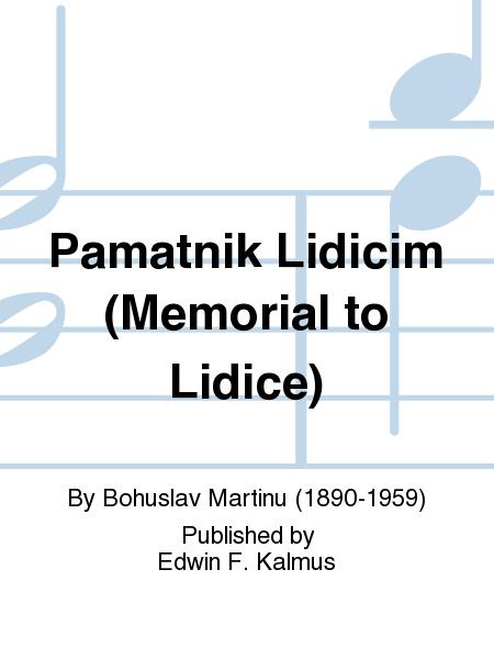 Pamatnik Lidicim (Memorial to Lidice)