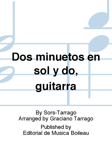 Dos minuetos en sol y do, guitarra