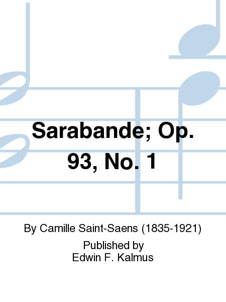 Sarabande; Op. 93, No. 1