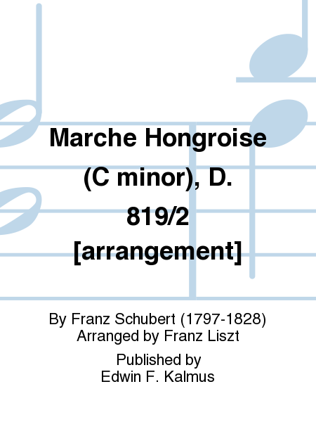 Marche Hongroise (C minor), D. 819/2 [arrangement]