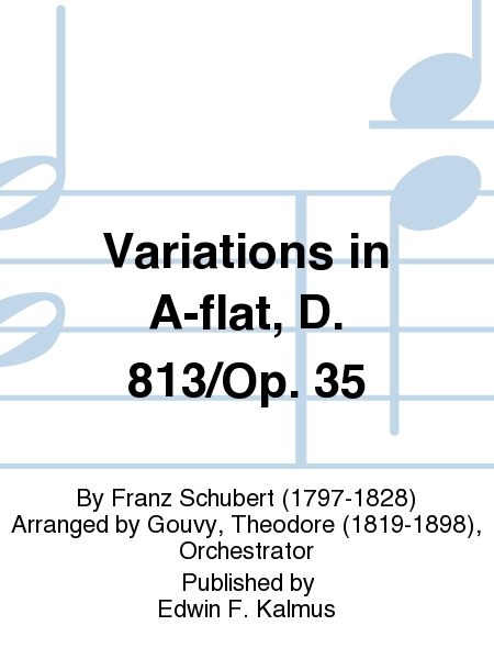 Variations in A-flat, D. 813/Op. 35