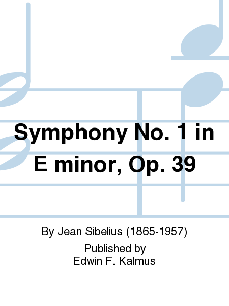 Symphony No. 1 in E minor, Op. 39