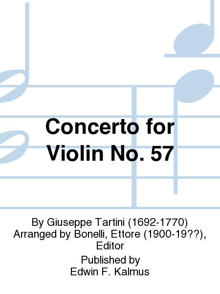 Concerto for Violin No. 57