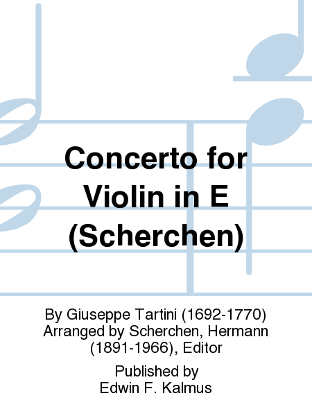 Concerto for Violin in E (Scherchen)