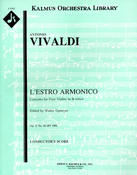 L'Estro Armonico, Op. 3; No. 10: Concerto for Four Violins & Cello in B minor, RV580/F.IV: 10